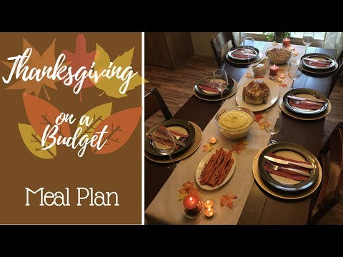 Thanksgiving on a Budget: Meal Plan