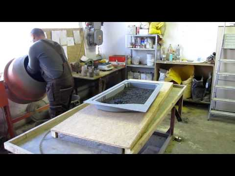 How to make tombstone, produce tomb from concrete in ABS plastic moulds