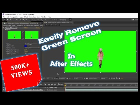 How to Remove Green Screen in Adobe After Effects CC Tutorial   The Teacher