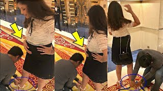 Ms Dhoni Ties Pregnant Wife Sakshi Dhoni Shoe In Mall