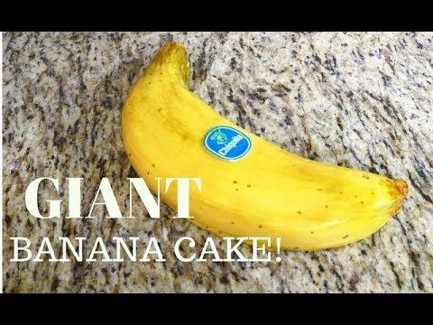 How To Make A GIANT BANANA out of BANANA CAKE!