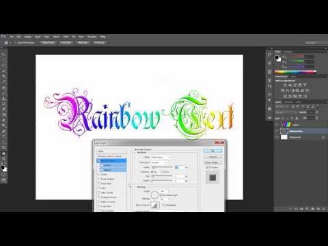 Rainbow Text Tutorial - Adobe Photoshop CS6 CS5 CS4