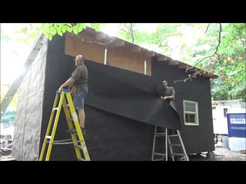 Putting Tar Paper On My Tiny House On Wheels S7