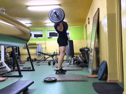 100kg POWER CLEAN (NATURAL BODYBUILDING)