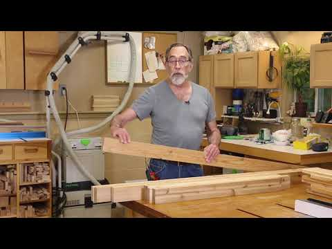 Cedar Garden Potting Bench Part 1 - The Down to Earth Woodworker