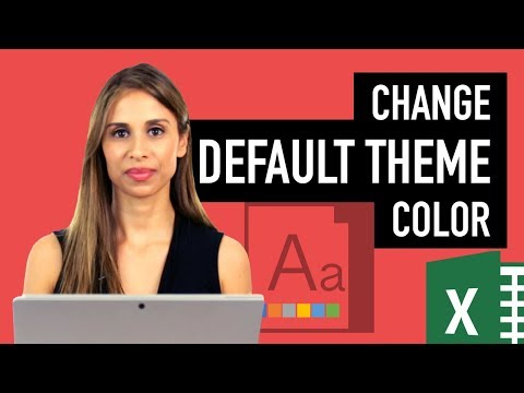 How to set Default Theme in Excel and how this could help you save time