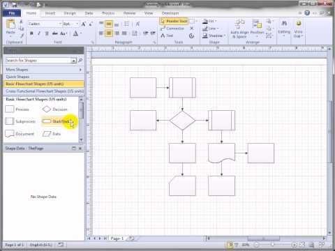 Shift Visio 2010 Flowchart Shapes Automatically!
