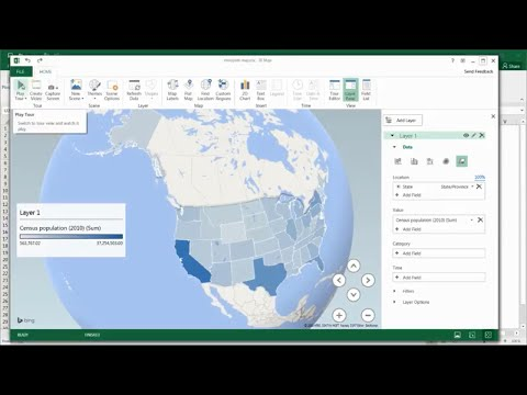 Create a Choropleth Map in Excel
