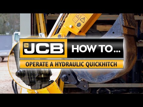 JCB How to operate a hydraulic quickhitch