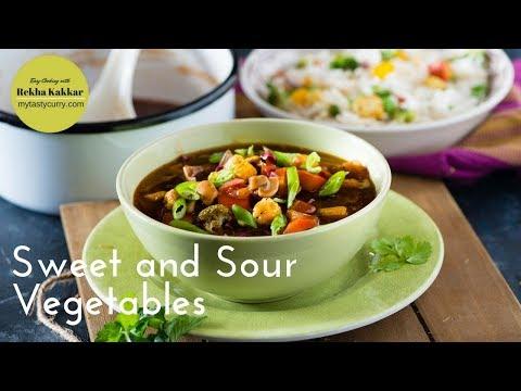 Chinese Sweet and Sour Vegetable Recipe - चाइनीस ग्रेवी फ्राइड राइस के लिए
