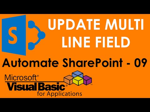 VBA to update Multiple lines of text field type in SharePoint