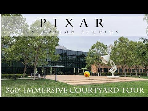 360 degree immersive tour of the Pixar Animation Studios Courtyard