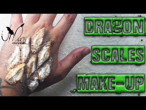 Halloween Make Up tutorial Dragon Scales