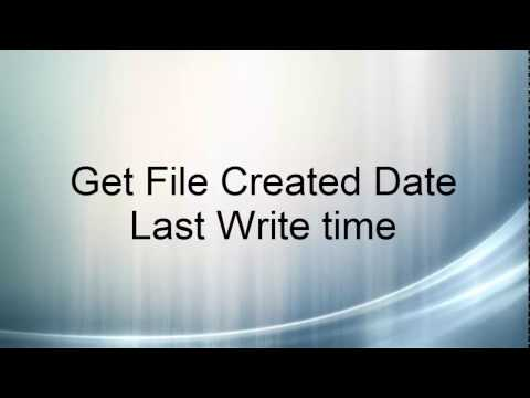 How to get File Created Date and Modified Date C#