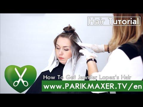 How To Get Jennifer Lopez`s hair parikmaxer tv english version