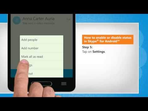 How to enable or disable status in Skype® for Android™ on LG L9