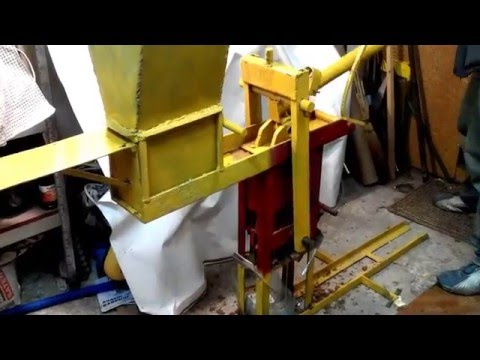 Homemade press for sawdust briquettes
