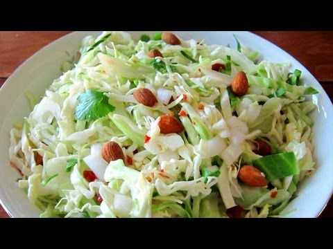 How To Make Coleslaw - Vinaigrette Coleslaw Recipe | Hilah Cooking