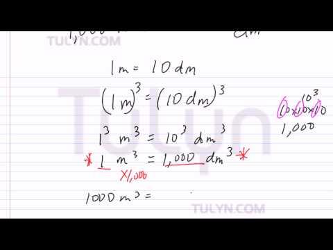 Conversion of Metric Units: Cubic Meter to Cubic Decimeter