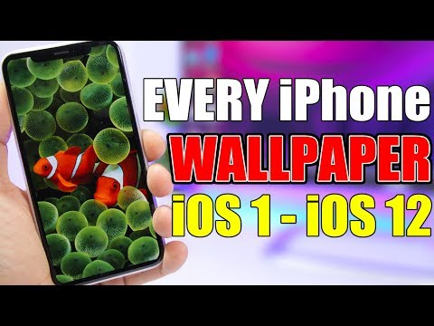 Get EVERY Official iPhone WALLPAPER Ever Released (iOS 1 - iOS 12)