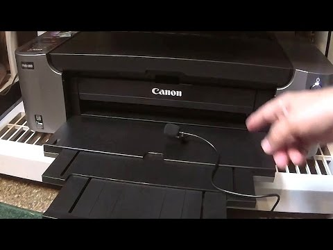 If you wait more than 60 hours wihout printing your CANON will run a mini Cleaning