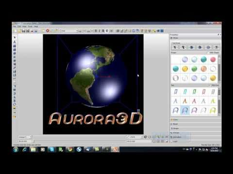 3d gif animation with aurora 3d Text & Logo Maker