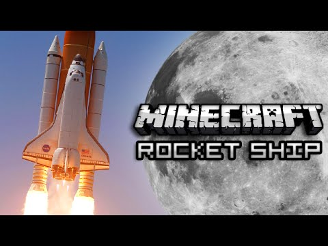Minecraft: ROCKET SHIP TO THE MOON w/ One Command Block