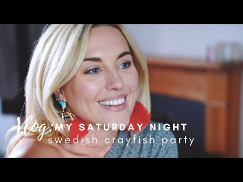 VLOG: SATURDAY NIGHT OUT + SWEDISH CRAYFISH PARTY || STYLE LOBSTER