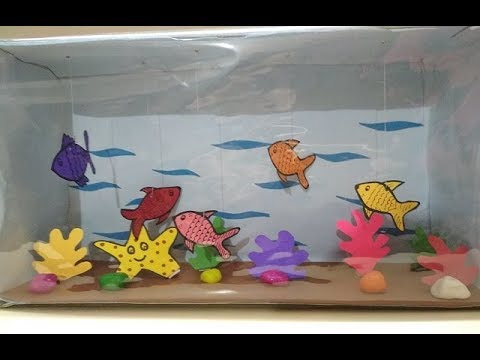 sea habitat school project diorama model | aquatic animals