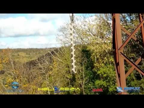 Helicopter saw and branch cutting system demonstration