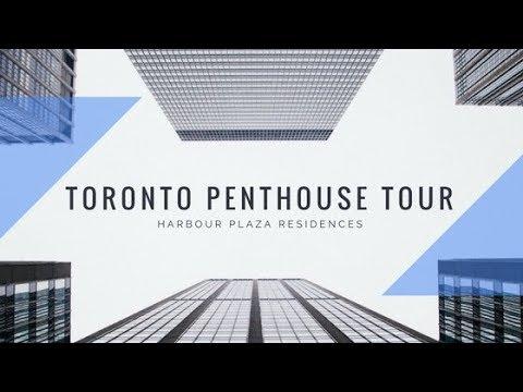 Toronto Penthouse Condo Tour! Harbour Plaza Condos!