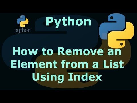 Python How to Remove an Element from a List Using Index