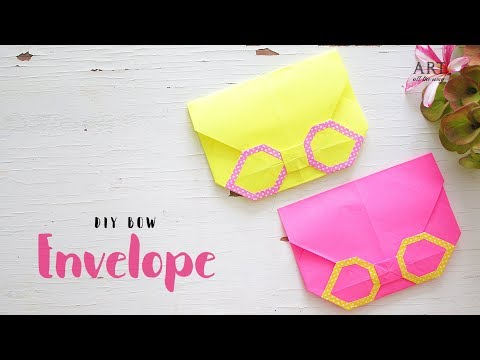 Bow Envelope | Mothers Day Craft Ideas | Paper Craft