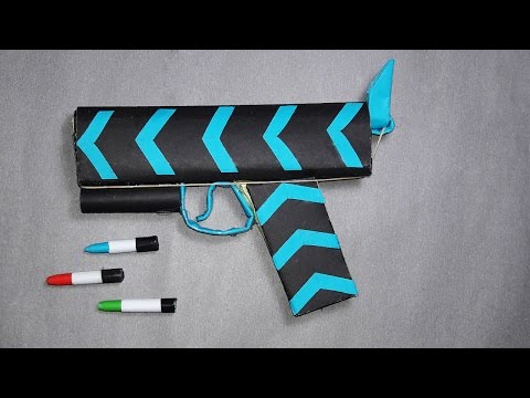 | DIY | How to make a paper 'ANACONDA GUN 'That shoots paper bullets | Toy Weapons |By Dr. Origami