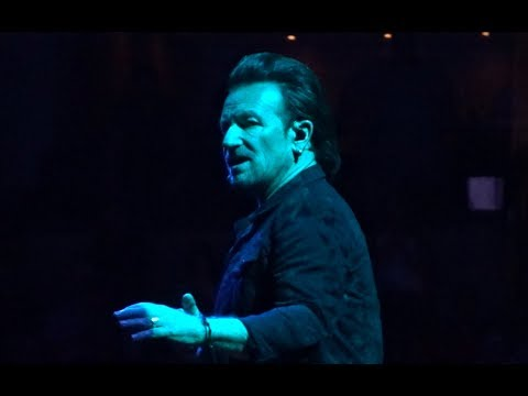 U2 - 2018 - Intro & Love Is All (HD) - Boston 6-22-2018 (Section 21 Row 1 Seat 1)