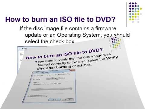 How to burn an ISO file to a DVD