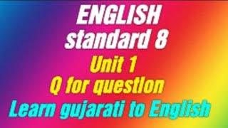 Std 8 English Sem 1 Unit 2