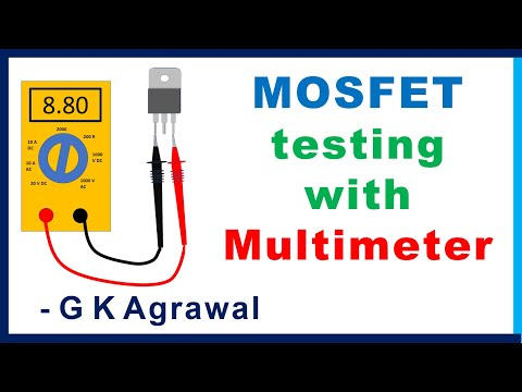 How to test MOSFET transistor using multimeter