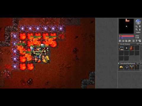 Tibia PK Killing High Levels Red Skull - Nice Loot xD [HD]