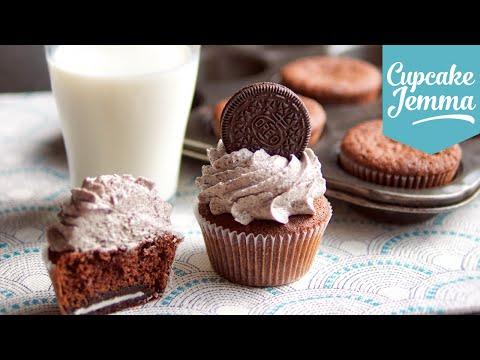 Cookies & Cream Oreo Cupcake Recipe | Cupcake Jemma