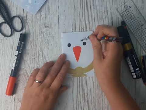 Create Simple Snowman Card
