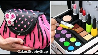 Download Amazing MAKE UP/FASHION Cakes and Cupcakes Compilation by Cakes StepbyStep Video
