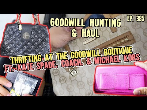 THRIFTING AT THE GOODWILL BOUTIQUE   GOODWILL HUNTING & HAUL EP. 385