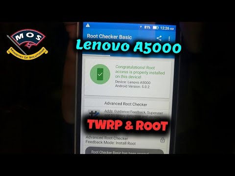 Lenovo A5000 root (Complete Tutorial)