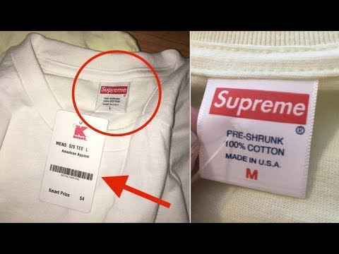Supreme Shirts Sold at Kmart! | Why Kmart cut off the Supreme Tags | (Kmart Exposed)