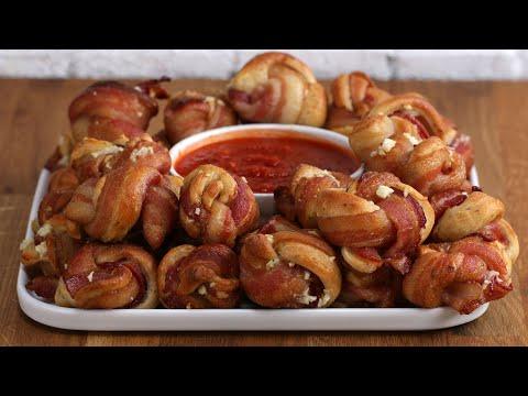 Bacon-Wrapped Parmesan Garlic Knots