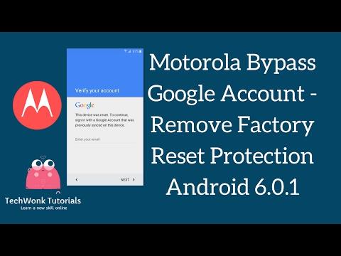 Motorola Bypass Google Account - Remove Factory Reset