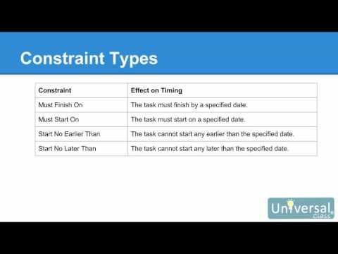 Lesson 8: Working with Task Duration, Constraints, and Deadlines - MS Project 2016 Course