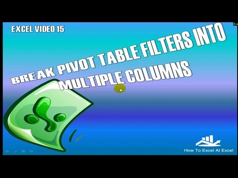 Excel Tip Split Pivot Table Filters Into Multiple Columns