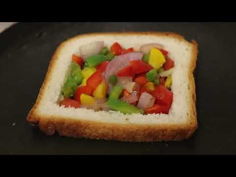 Omelette in a Hole Bread Omelette Recipe